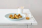 Potato croquettes with peas