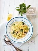 Tagliatelle with lemon sauce and sage