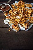 Chocolate-drizzled honeycomb