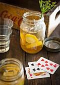 A lemon cocktail