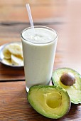 A banana and avocado smoothie