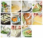 Making vegetable lasagne