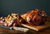 Roast lamb with vegetables
