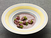 Burgundy velouté with lamb