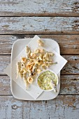 Fritto misto with tartare sauce