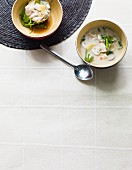 Tom Ka Gai (chicken soup with coconut milk, Thailand)