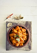 Butternut squash achaar with cumin and limes