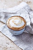 Caffe latte in a ceramic cup