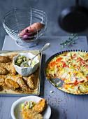 Ernährung bei ADHS: Sesamkartoffeln & Gemüsegratin mit Süsskartoffeln