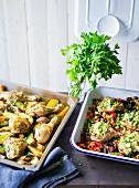Ernährung bei ADHS: Zweierlei Hähnchen vom Blech mit Gemüse