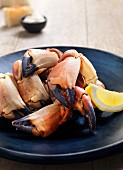 Lobster claws with lemon