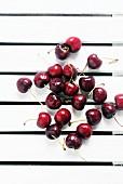 Washington Sweet Cherries on a white wooden table