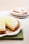 Kokosnuss-Key Lime Pie