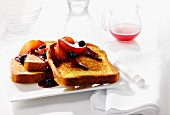 French toast with fruit compote