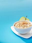 Porridge with apple and cinnamon