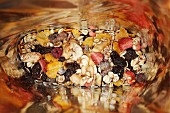 Fruit muesli in a bag