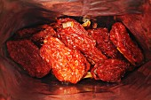 Dried tomatoes in a bag