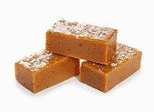 Three pieces of salted caramel