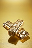 Gilded chocolate bars