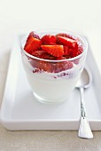 Quark with fresh strawberries