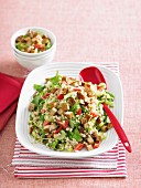 Barley salad with tofu