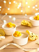 Coconut panna cotta with Durban mango salad
