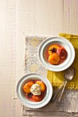 Baked nectarines with syrup