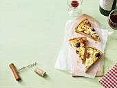 Feta and olive quiche