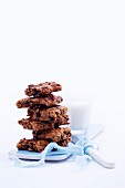 A stack of chocolate muesli bars