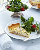 Slice of Quiche Lorraine and salad