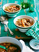 White bean soup with lamb and carrots