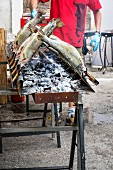 Grilled trout at a mediaeval festival
