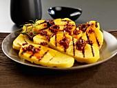Grilled polenta with olive pesto