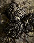 Dried black tagliatelle