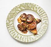 Kidneys and mushrooms on toast