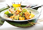 Rojak salad with vegetables and fruits from Malaysia
