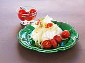 Burrata with braised tomatoes