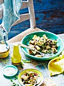 Aubergine salad with mint and sultanas