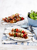Yakitori skewers with rice