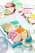 Colourful Easter biscuits
