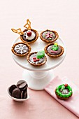 Cheerful Christmas tartlets