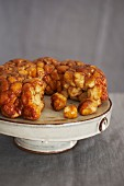 Monkey Bread (caramelised yeast cake with sugar and cinnamon)
