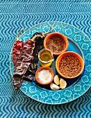 Ingredients for harissa sauce