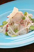 Fennel and radish salad with broad beans