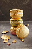 A stack of golden macaroons