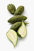 Cucumber melons, whole and halved