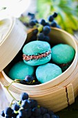Turquoise coconut macaroons