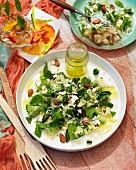 Warm risoni and vegetable salad