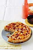 Almond cake with pomegranate syrup