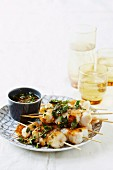 Chermoula fish skewers